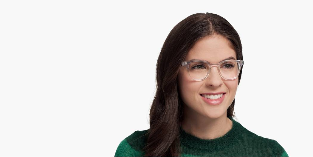 Coley Eyeglasses In Crystal For Women Warby Parker