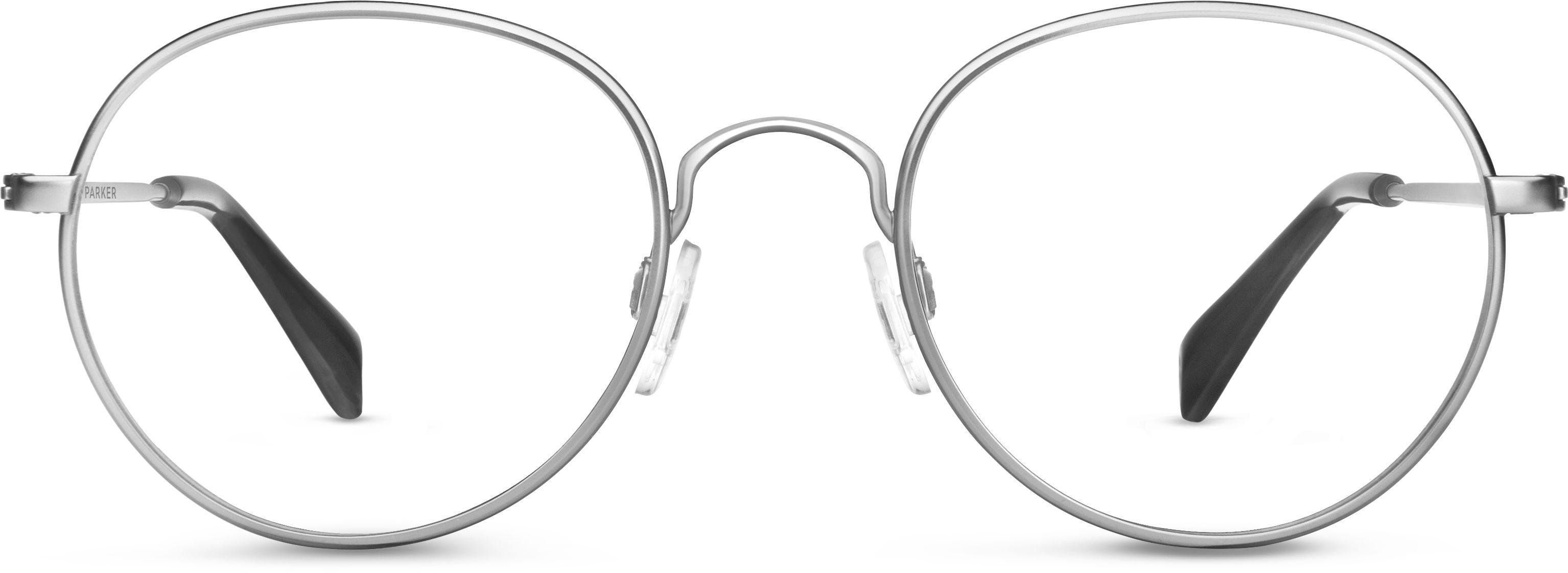 Abbott Eyeglasses in Jet Silver for Men   Warby Parker