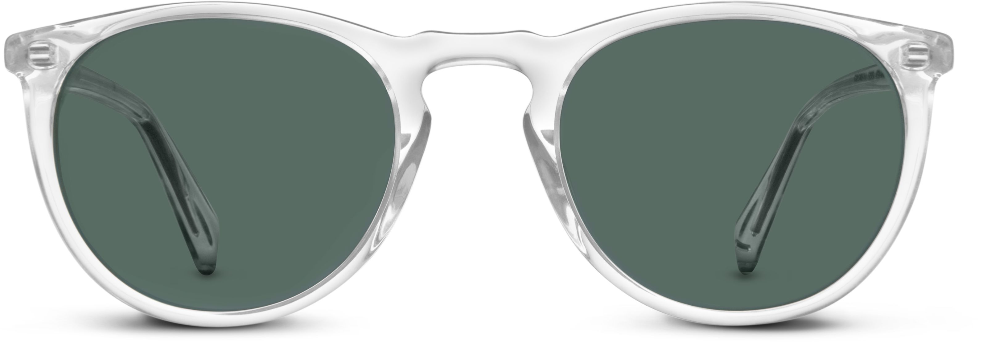 60ffe550909 Haskell Sunglasses in Crystal with Green Grey lenses for Men