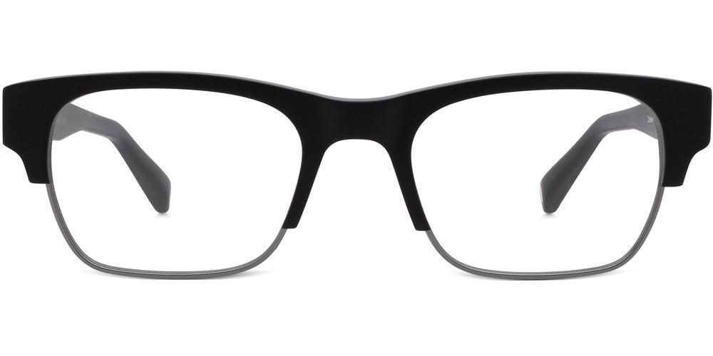 Warby Parker Eyeglasses - Oates in Jet Black Matte