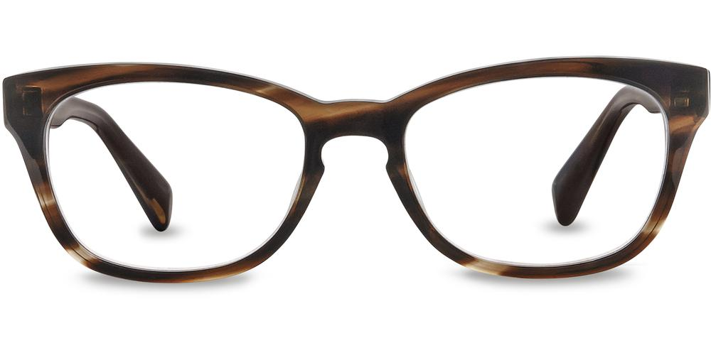 Warby Parker Eyeglasses - Finch in Striped Molasses