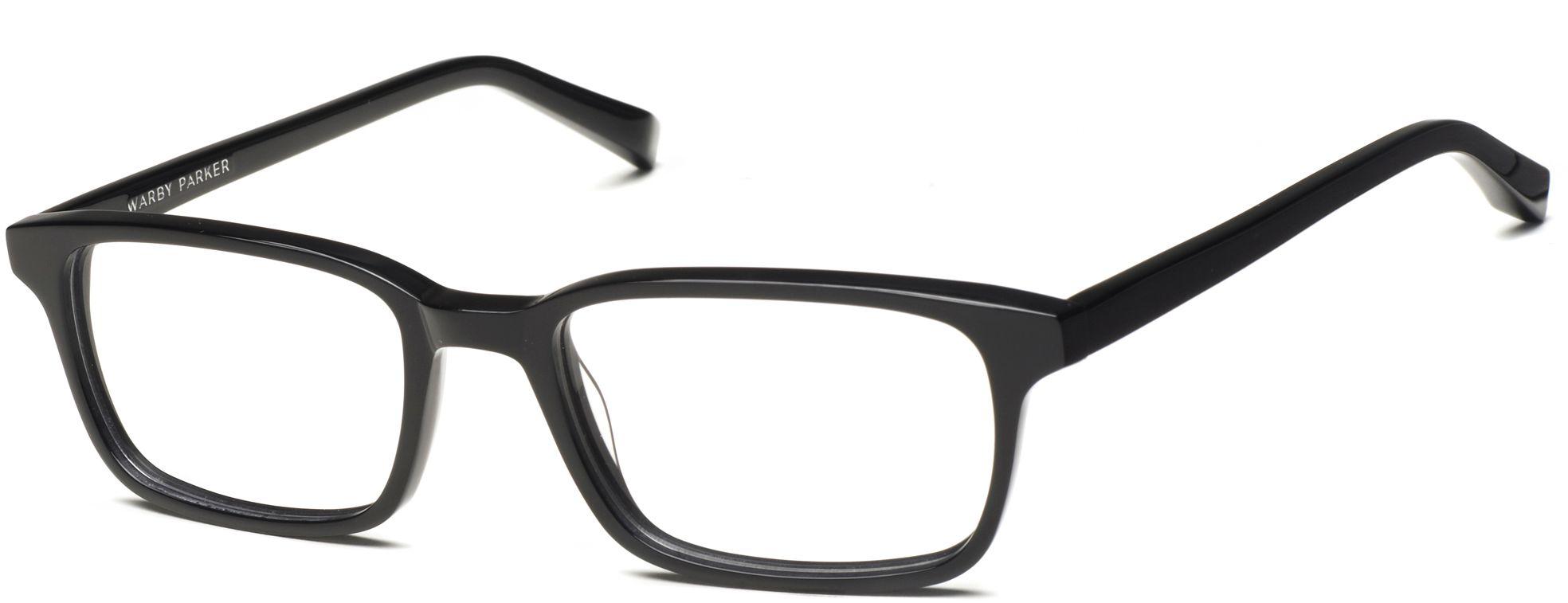 1ea05a040c Crane Eyeglasses in Jet Black for Men