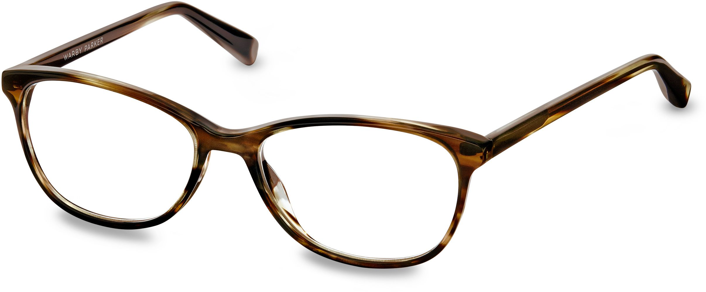 daisy eyeglasses in striped molasses for women warby parker
