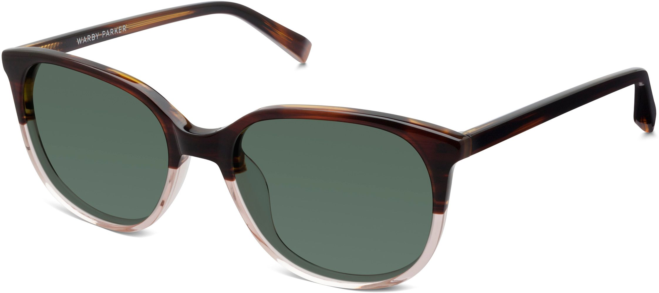 137a5960e9 Laurel Sunglasses in Tea Rose Fade with Green Grey lenses for Women ...
