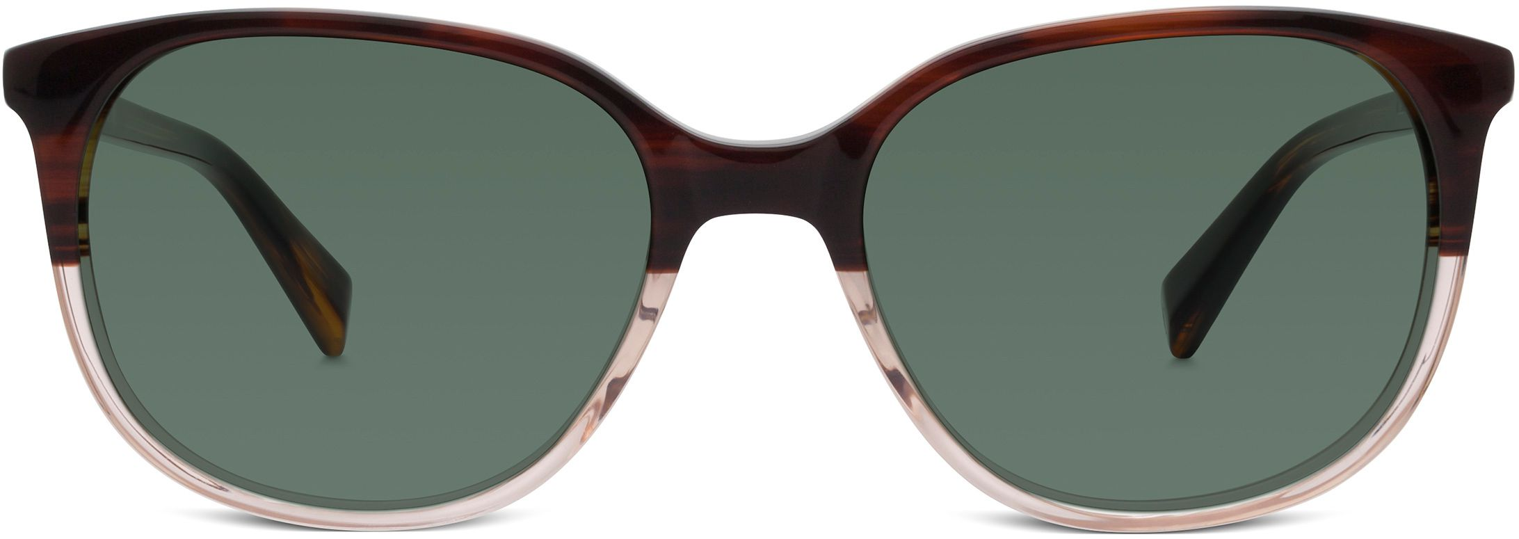 f33859e96fe Laurel Sunglasses in Tea Rose Fade with Green Grey lenses for Women ...