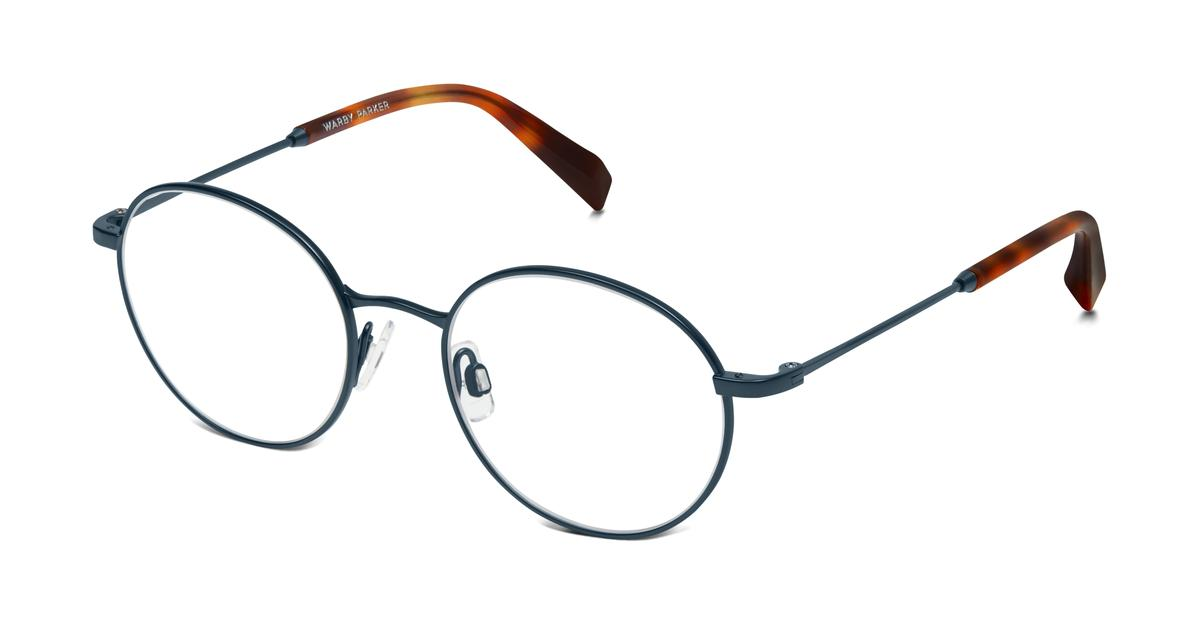 Glasses Frames Locations : Milton Eyeglasses in Brushed Navy for Men Warby Parker