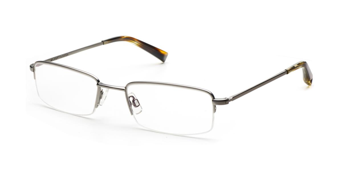 Warby Parker Rimless Glasses : Ramsay Eyeglasses in Jet Silver for Men Warby Parker