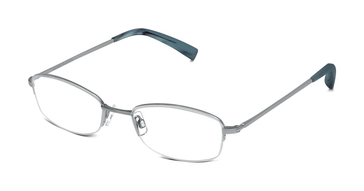 Warby Parker Rimless Glasses : Wally Eyeglasses in Jet Silver for Men Warby Parker