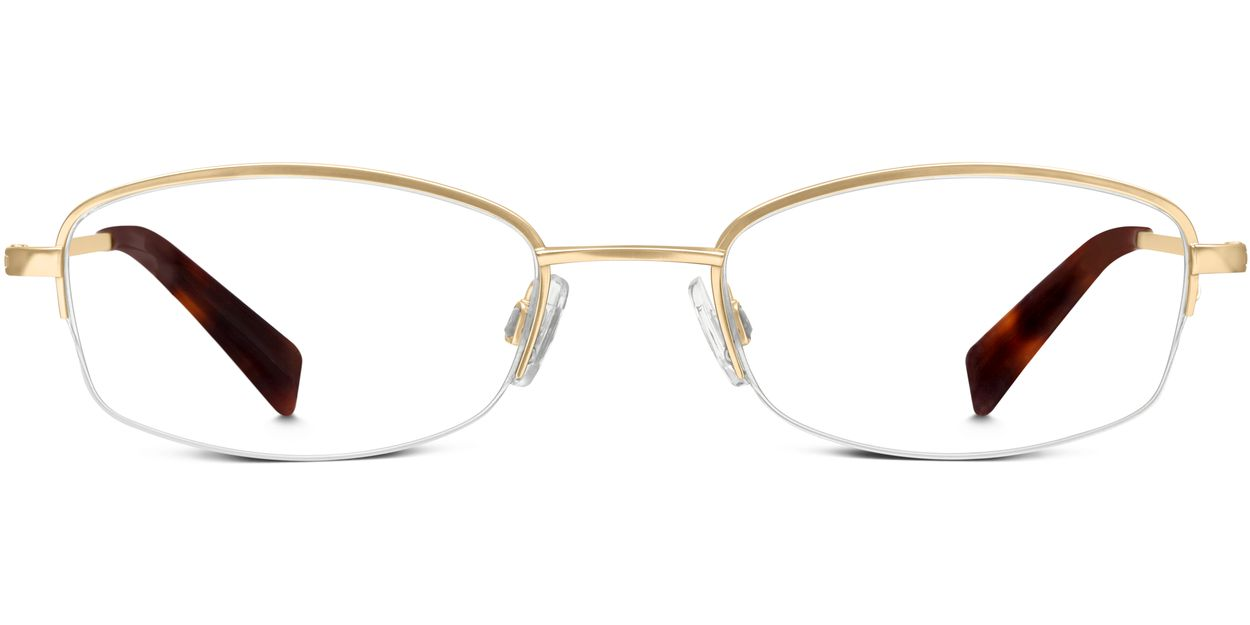 Warby Parker Rimless Glasses : Wally Eyeglasses in Polished Gold for Women Warby Parker