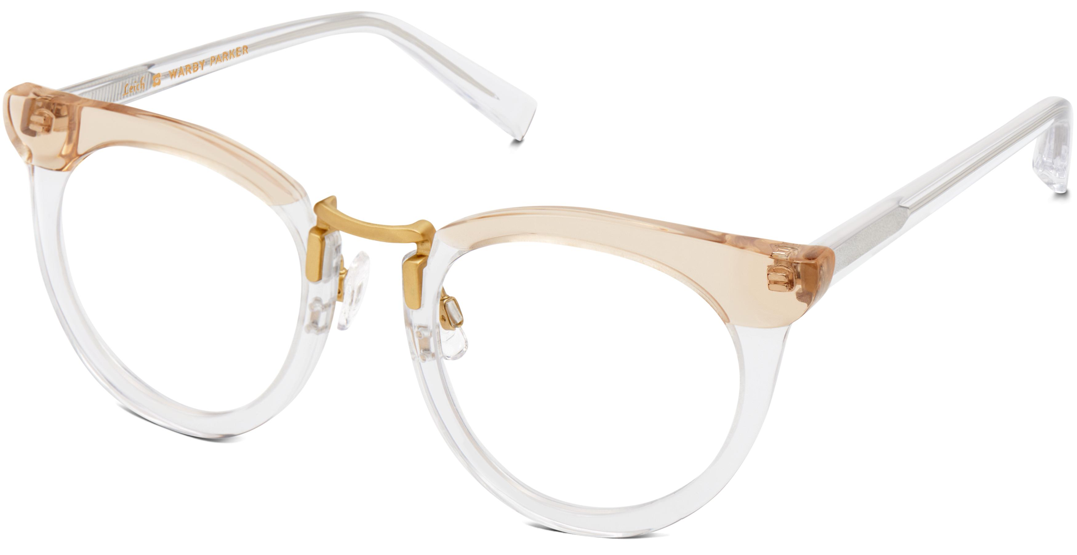 From our collaboration with Leith Clark comes Zelda, a two-tone cat-eye silhouette with a Polished Gold square bridge. Simple yet utterly distinct.