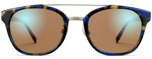 Fairfax in Cobalt Tortoise with Polished Silver