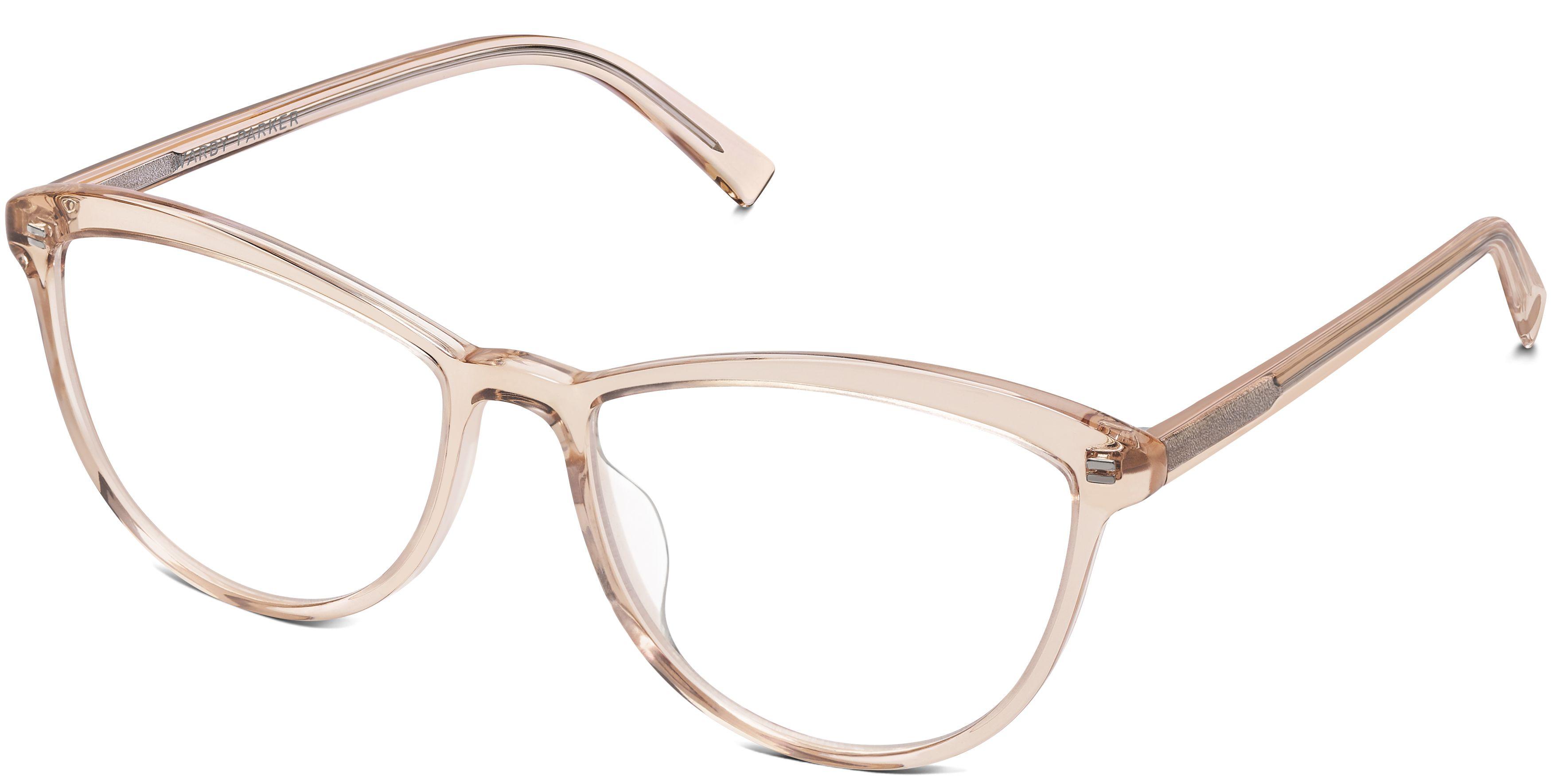 Louise Wide Eyeglasses in Elderflower Crystal for Women | Warby Parker