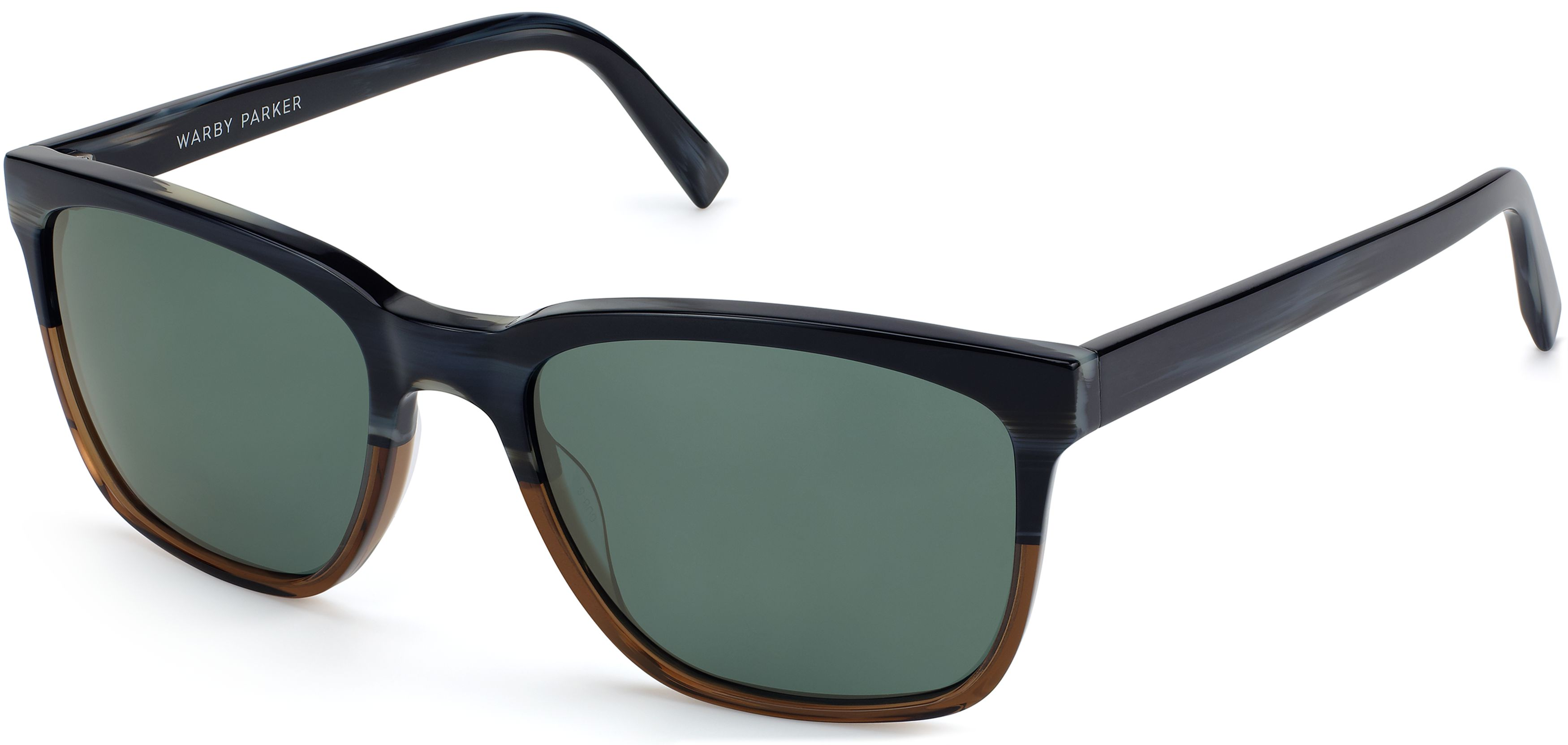 1b178761b91 Barkley Wide Sunglasses in Antique Shale Fade with Green Grey lenses for Men