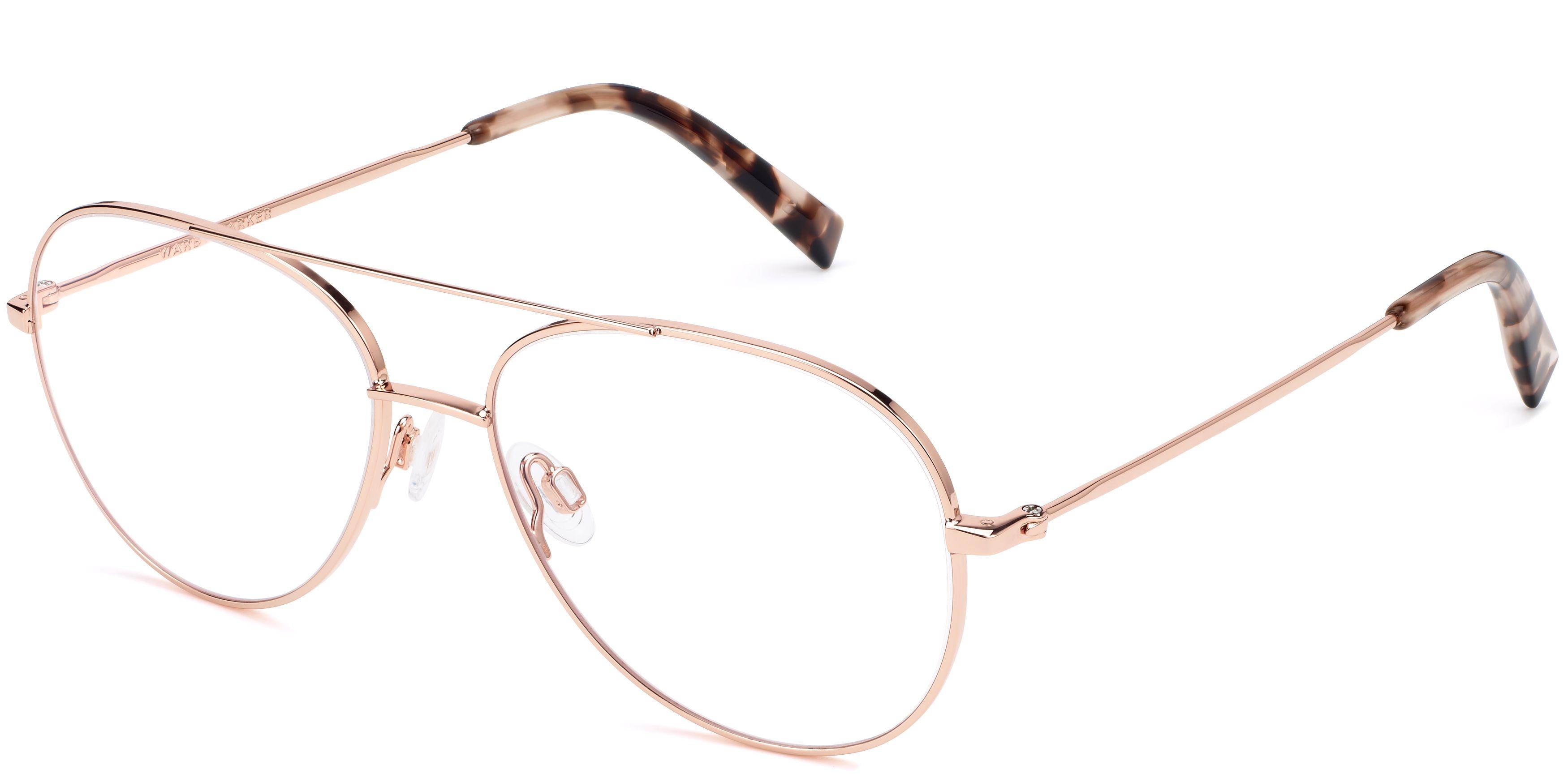 5105064e17 York Eyeglasses in Rose Gold for Women
