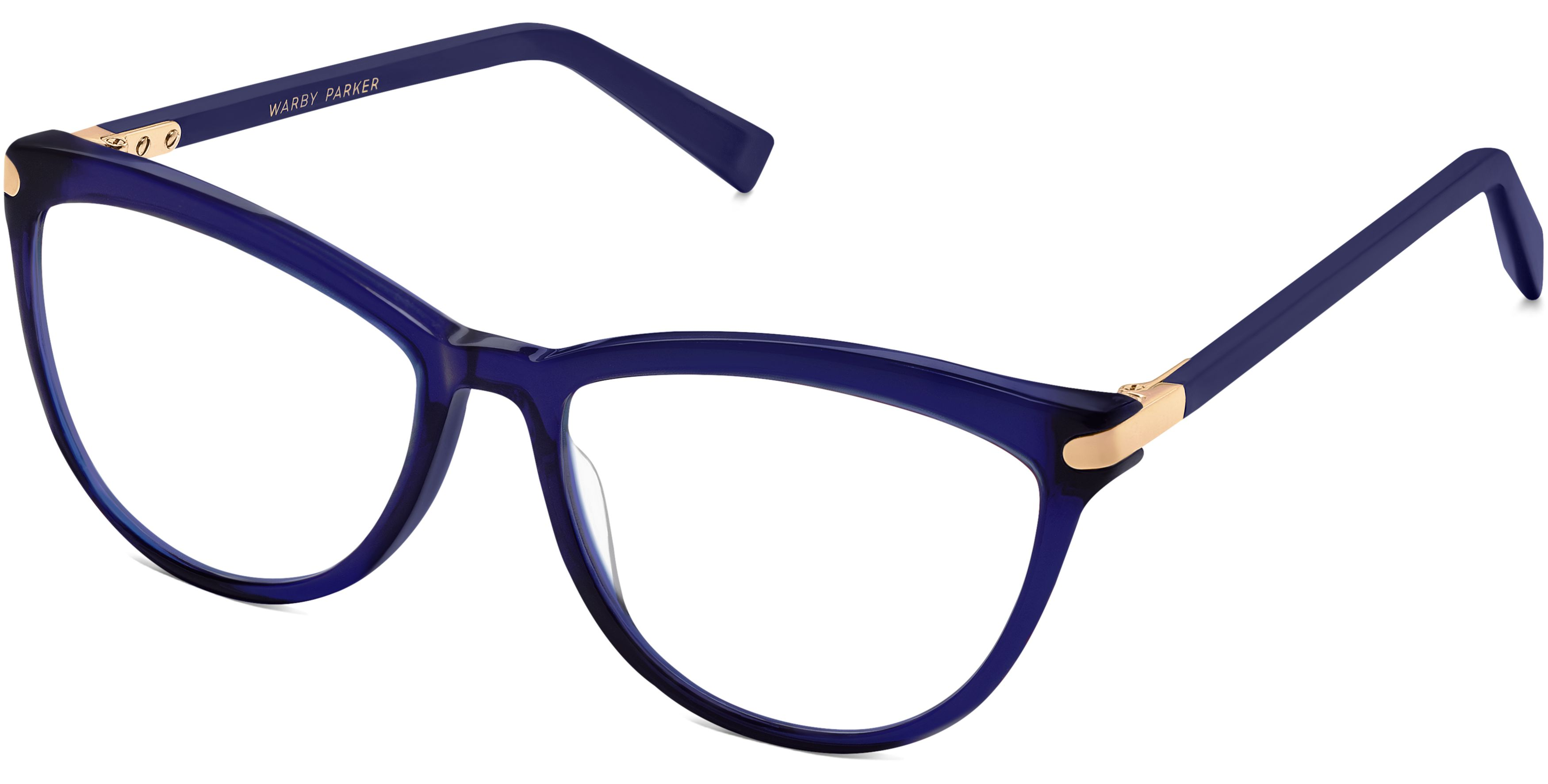 40618b0becae Louise Eyeglasses in Lapis Crystal With Gold for Women