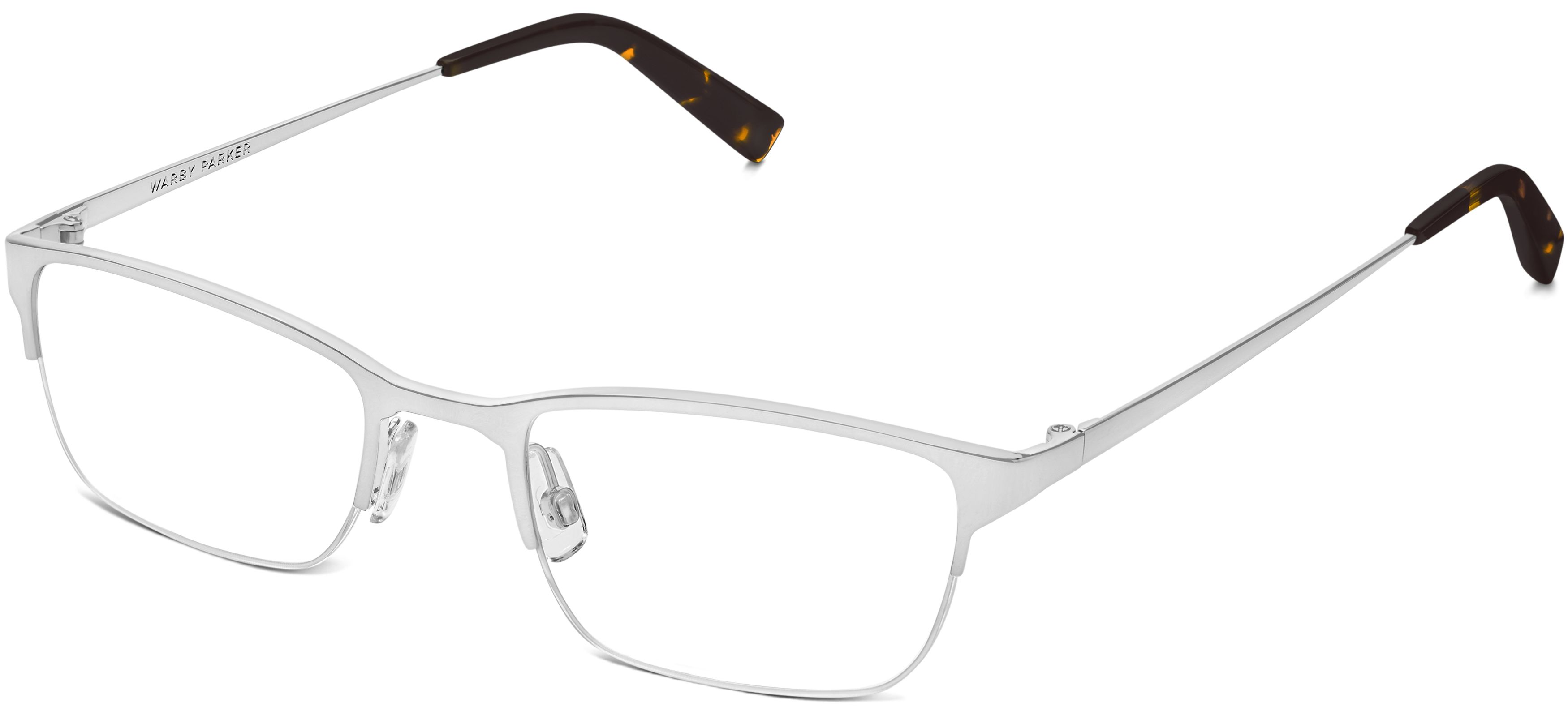 Caldwell Narrow Eyeglasses in Polished Silver for Women | Warby Parker