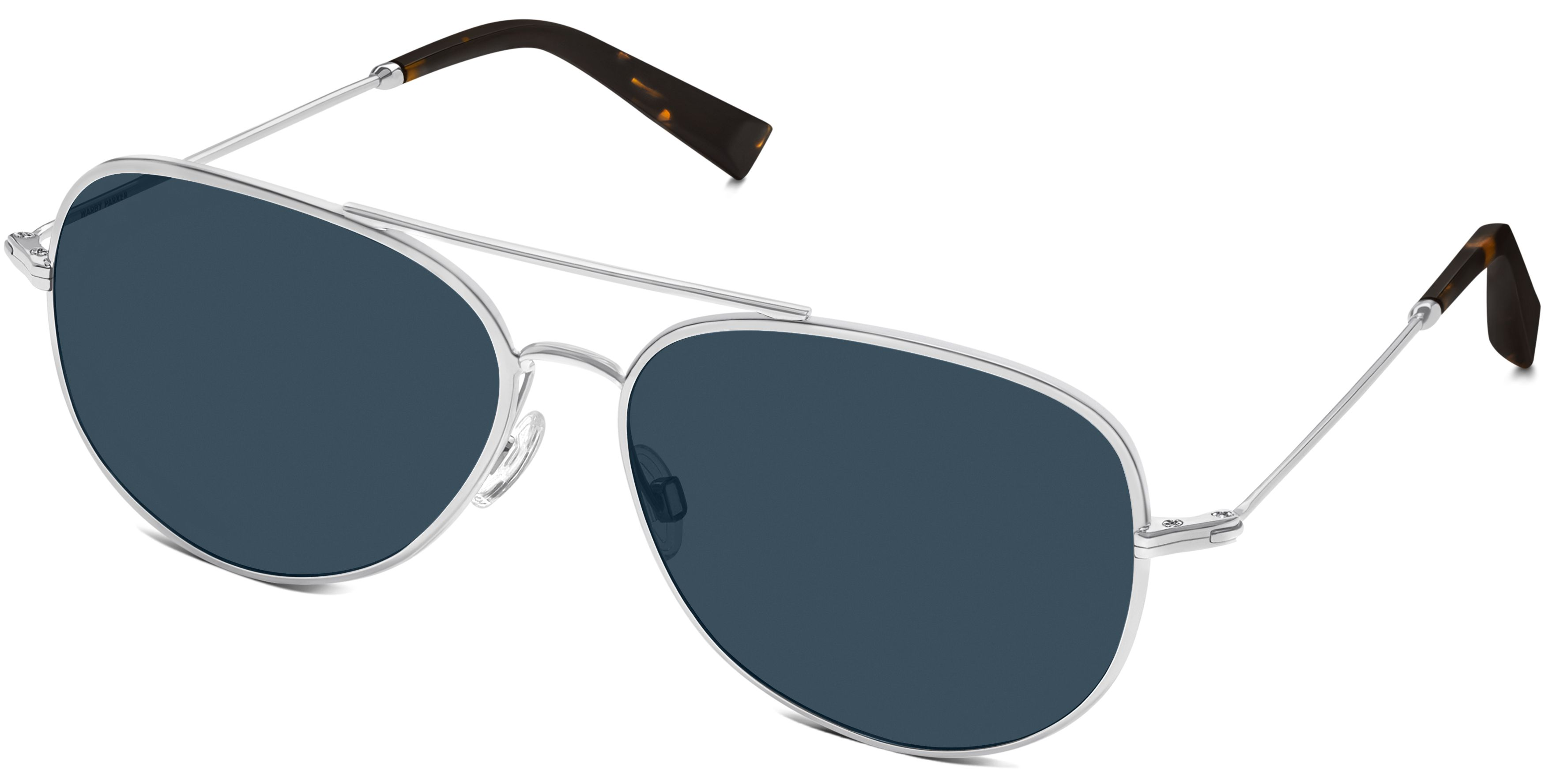 9c4d61fb7b Raider Sunglasses in Polished Silver with Vintage Blue lenses for Women