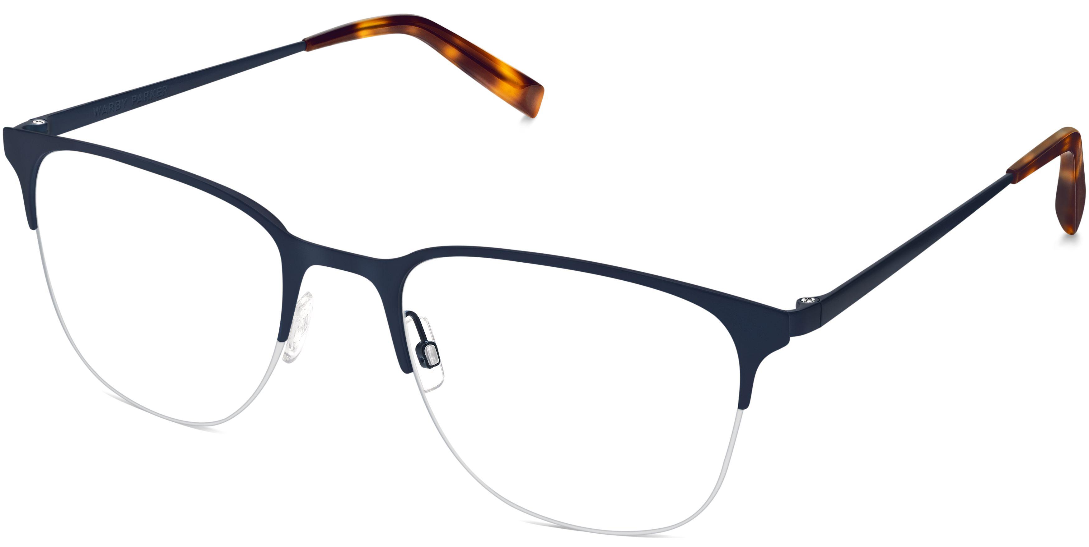 Wallis Eyeglasses in Brushed Navy for Men   Warby Parker