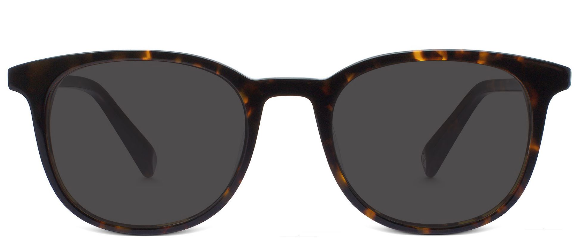 Durand in Whiskey Tortoise showing dark lenses in outdoor setting