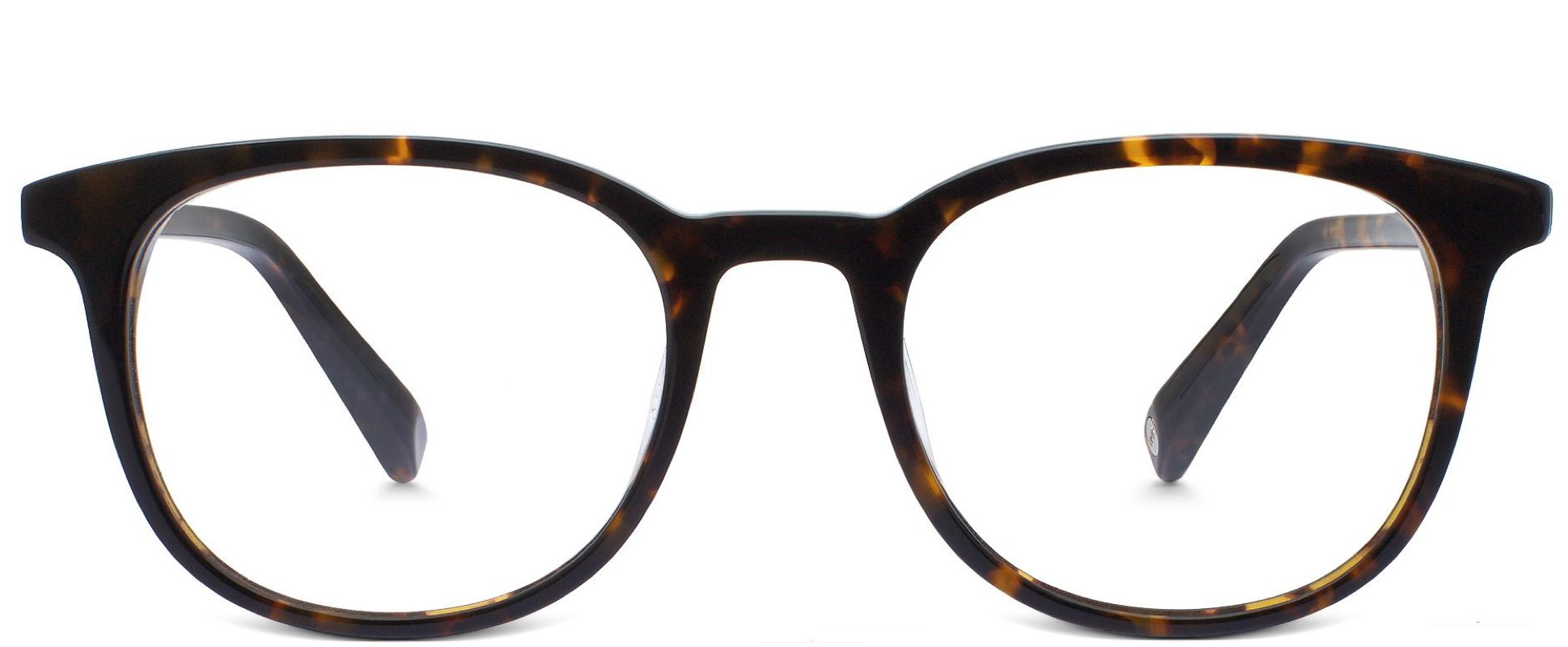 Durand in Whiskey Tortoise showing lighter lenses in an indoor setting
